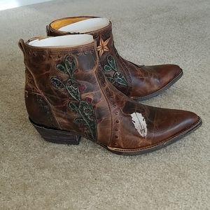 Old Gringo Joplin ankle boots brown sz 8 NIB!